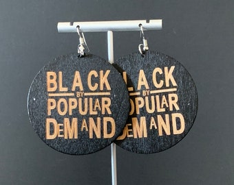 85da17ce75d5 Black By Popular Wood Earrings - Afrocentric Wooden Earrings
