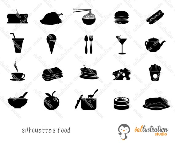 Food Icons Svg Burger Icons Cake Icons Drinks Icons Svg Etsy