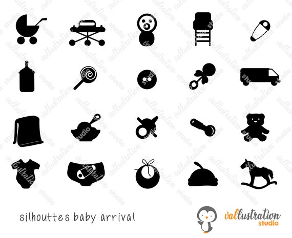 Baby Arrival Icons Svg Baby Icons Svg Png Eps Etsy