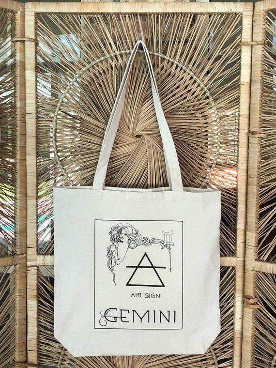 Gemini Zodiac Star Chart  Shopping Tote Bag