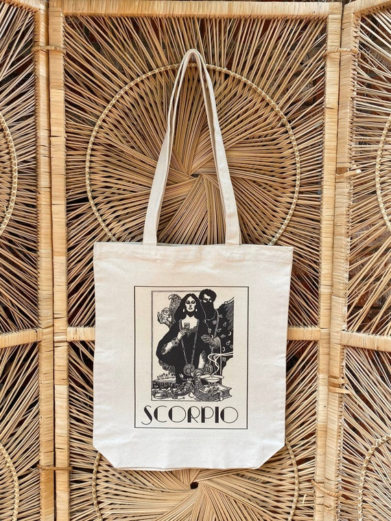 Scorpio Zodiac Sign Personalized Astrology Tote Bag