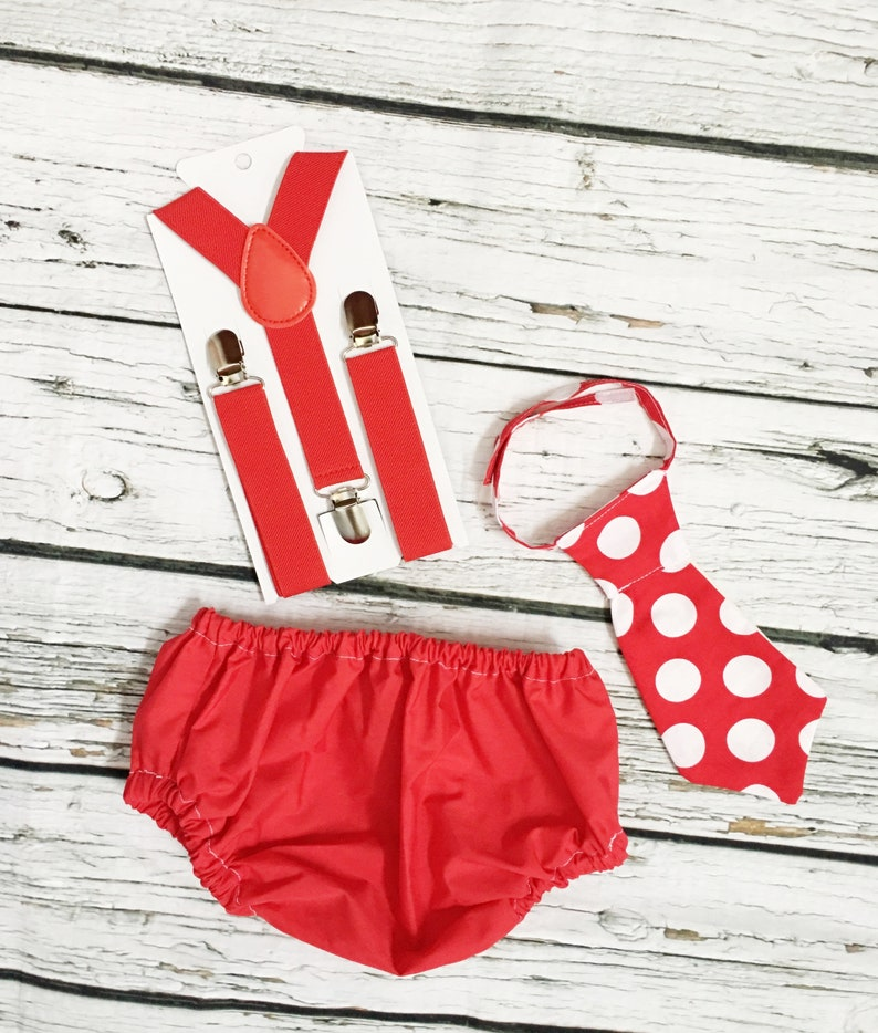 Ready to Ship,Mickey Red Birthday,Mickey Outfit,Red Suspenders,Diaper Cover Red,Red White Dots,Cake Smash Outfit Boy,Birthday Boy Outfit