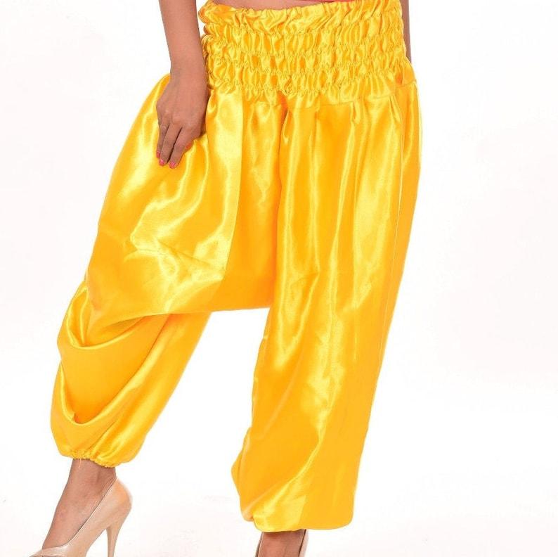 Indian Women Handmade Beautiful Stylish Harem Trouser Ali baba Bohemian Satin Summer Pant Ali baba