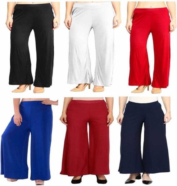 Stylish Palazzo Pant Rayon Cotton Harem Pajama Loos Fit Plazo Trouser Plus Size