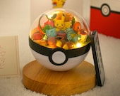 Pokemon Terrarium pikachu charmander bulbasaur squirtle with lantern Terrarium Pokeball Pokemon go Party favors Party gifts For Him Her