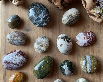 SOURCED orbicular jasper Spotted Stones Round stone 18mm Rounds 18mm Ocean Jasper cabochon Ocean jasper cabochons
