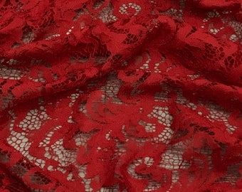 — 1 mètre Belle rouge guipure//Venise Festonné Floral galon dentelle 4 cm