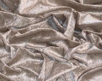 Plum Diamond Ice Crush Velvet Fabric 58/'/' PRICE PER METER