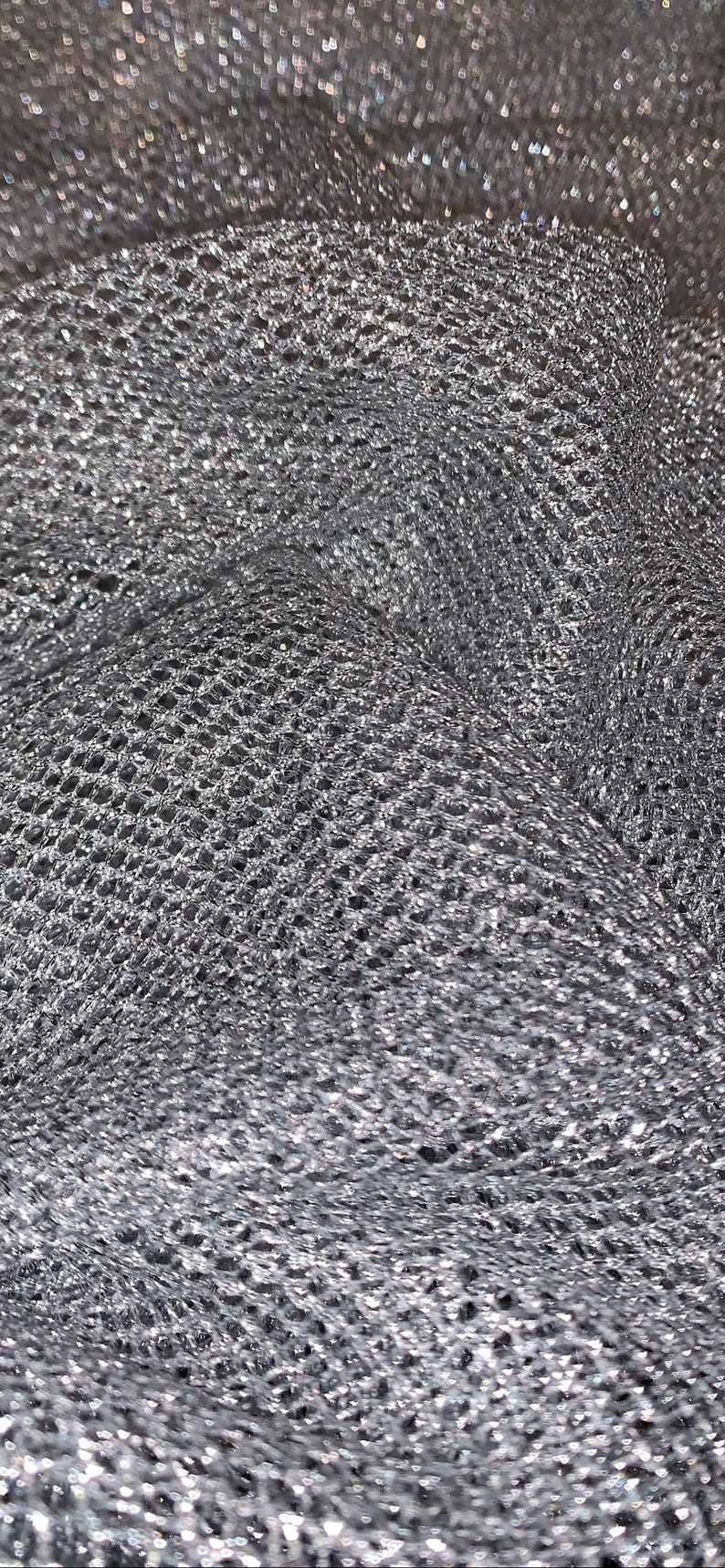 Silver Fishnet Chainmail Mesh Net Fabric 45 Price Per Meter