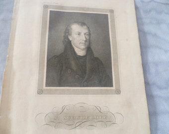 engraver 1790-1869 Three-man portrait Johann Georg Nordheim Breast portrait Ladislaus Count Ostrowski 1804-1853