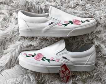 vans shoes flower blue and pink basket