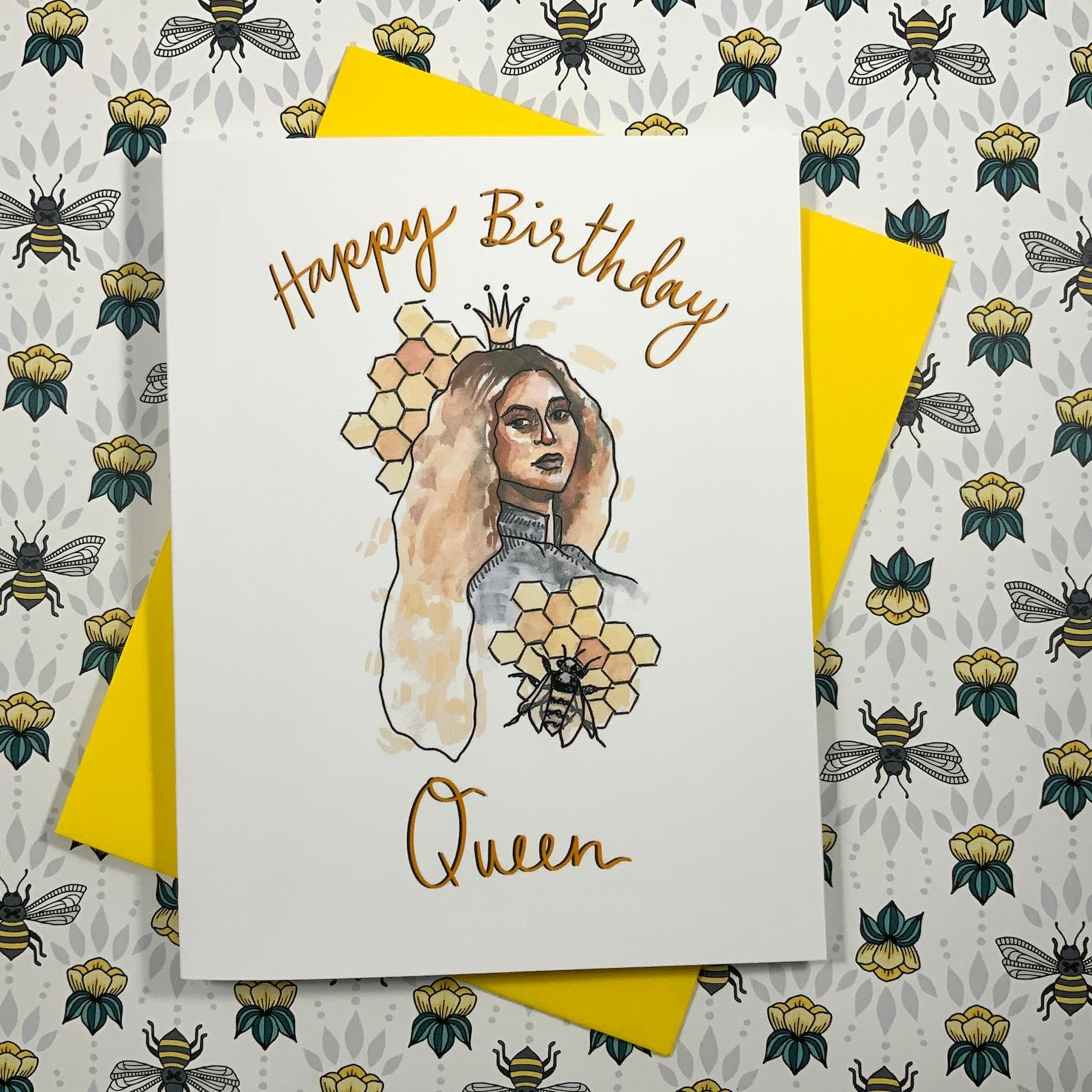 happy birthday queen birthday card beyonce birthday card