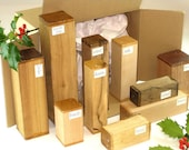 Woodturner 39 s Spindle Blanks Gift Box. English Hardwood for Turning Wood Carving