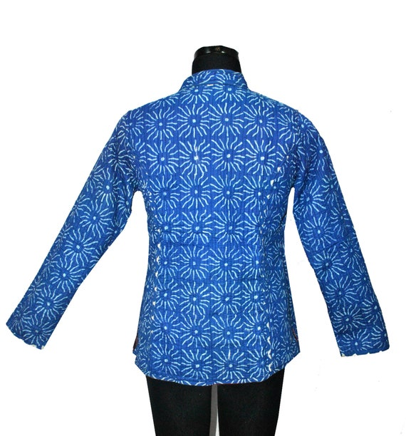 Women Kantha Jacket Reversible Blazer Coat Pink Paisley New Handmade Ethnic Wear