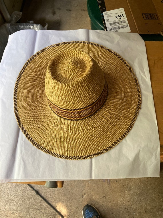 African Straw Hat Woven Sun Hat