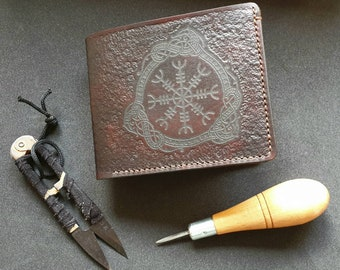 Helm of Awe - Handcrafted Leather Wallet