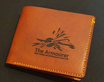 The Armourer - Safely Making Aircraft Dangerous Since 1918 -Handcrafted Leather Wallet
