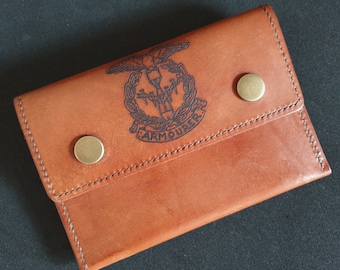 Tobacco Pouch - with WW2 Armourers badge - this item can be personalised