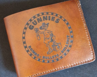 The Gunnie Wallet - Bombs, Bullets and Bullshit - The RAAF Armourers Handcrafted Leather Wallet