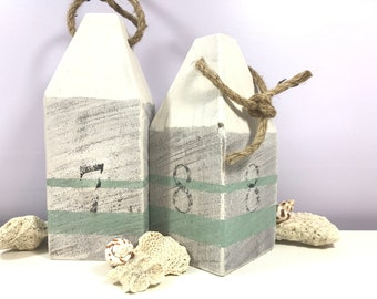 Salvaged Wood Buoy - set of two