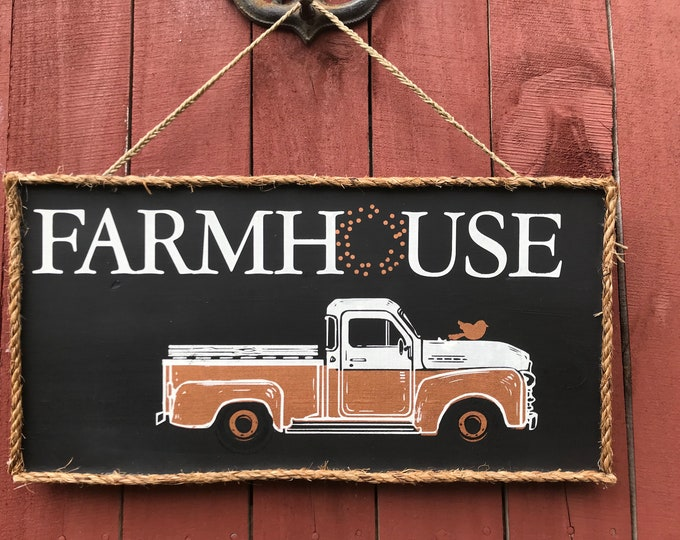 Farmhouse Vintage Truck Wooden Sign