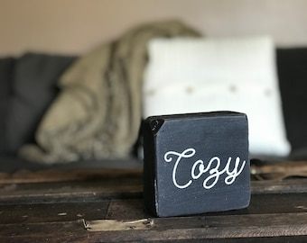 Cozy/Grateful Home Decor Accent Piece