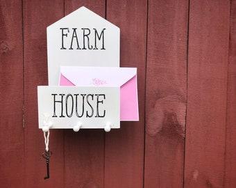 Farmhouse Mail & Key Holder