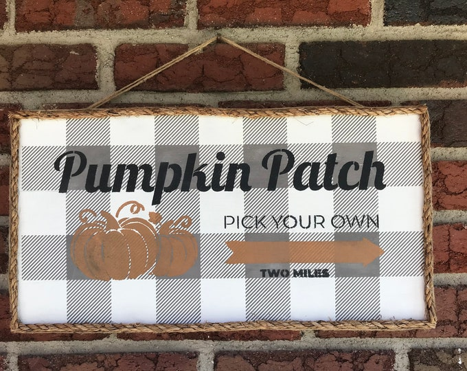 Pumpkin Patch Fall Sign