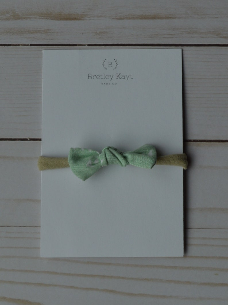 Fabric Hairbow MintBaby Bow Mint Hairbow Mint Infant Hairbow Baby Girl Headband