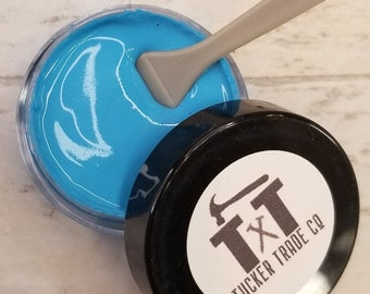 TTCO Chalk Paste TURQUOISE   For Silk Screen or Mesh Stencils, Cricut Stenciling, Craft Paint Projects, & Diy Sign Home Decor