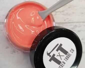 TTCO Chalk Paste CORAL   For Silk Screen or Mesh Stencils, Cricut Stenciling, Craft Paint Projects, & Diy Sign Home Decor