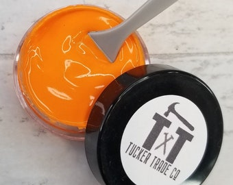 TTCO Chalk Paste ORANGE   For Silk Screen or Mesh Stencils, Cricut Stenciling, Craft Paint Projects, & Diy Sign Home Decor