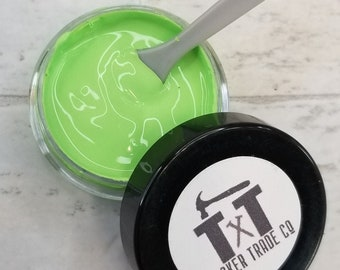 TTCO Chalk Paste LIME   For Silk Screen or Mesh Stencils, Cricut Stenciling, Craft Paint Projects, & Diy Sign Home Decor