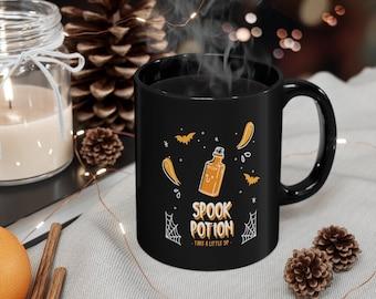 Spook Potion Mug -  Halloween Mug - Fall Mug - Pumpkin Spice - Coffee Gift - Fall Y'all - Cute Mug - Mug 11oz Black Tee