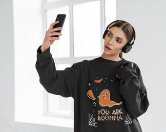 You are Bootiful   Fall   Halloween   Ghost   Halloween shirt   Gift idea for girl   Unisex Heavy Blend Crewneck Sweatshirt