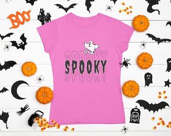 Spooky Ghost SVG, Halloween shirt svg, Spooky shirt svg, Spooky Vibes svg, trick or treat svg, Ghost svg, png, jpg