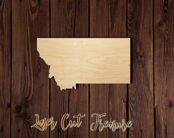 Laser Cut Wood Cut Out Medium Montana State