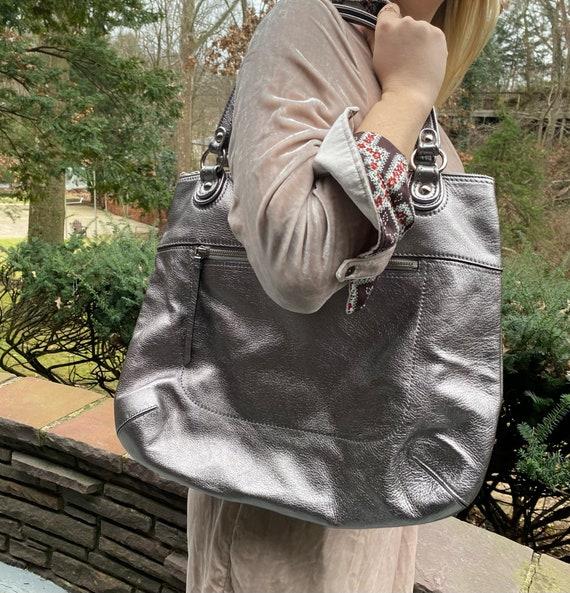 Vintage Silver Coach Handbag