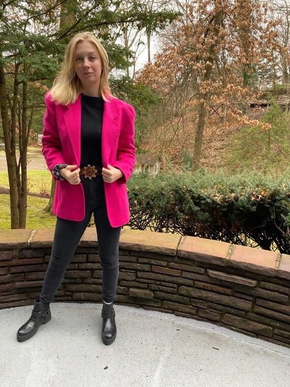 Vintage Hot Pink Lizwear Blazer
