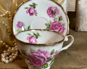Royal Standard Orlean/'s Rose Edition Scalloped Edge Serving Saucer