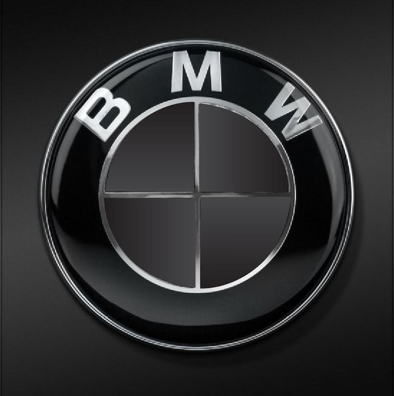 BMW Black /& Pink Carbon Fiber Emblem Sticker Overlay Complete Set Decal