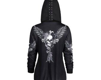 d4328fcf Gothic hoodie | Etsy