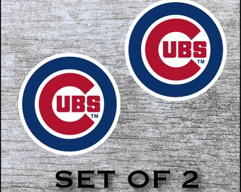 """5/"""" 10/"""" 15/"""" or 20/"""" Chicago CUBS Baseball FULL COLOR Car Window Decal Sticker"""