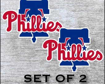 Flyers Phila Sports Combined Phillies 76er Cornhole Board Decals 12 in Eagles