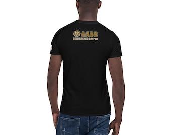 AABBG Wallet QR code Gold Crypto Short-Sleeve Unisex T-Shirt