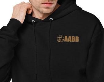 AABB Embroidered Unisex Fleece Hoodie Lightweight