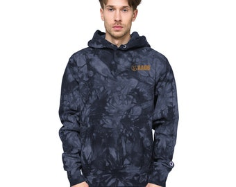 AABB Embroidered Unisex Champion tie-dye hoodie
