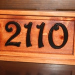 Address Numbers Sign, Street House Numbers Engraved Home Address Wood Plaque