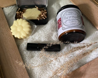 Pride and Prejudice perfume oil and lotion bar, organic, hand poured, small batches
