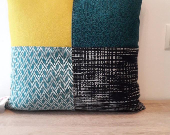 Patchwork cushions incl. inlet pillow